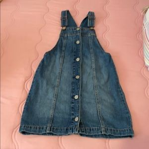 Girls Gap denim overall dress